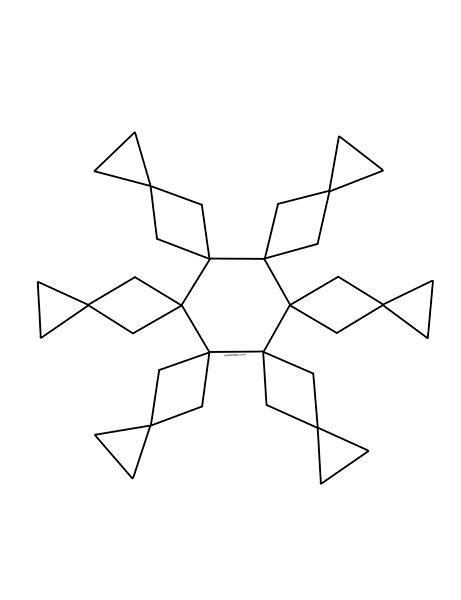 snowflake pattern preschool pattern design snowflake tangram 171 funnycrafts