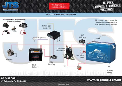 home redarc wiring diagram dual battery solenoid relay to