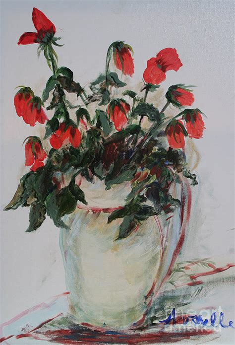 a dozen roses painting by avonelle kelsey