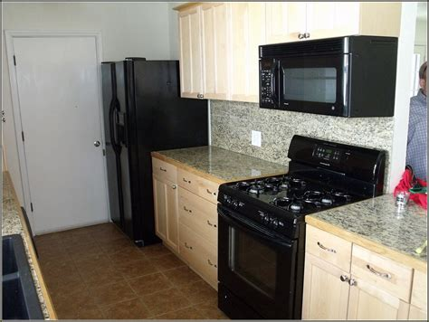 kitchen design with black appliances buying off white kitchen cabinets for your cool kitchen