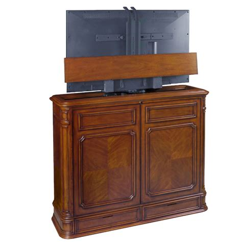 tv lift cabinet pointe 360 swivel lift for 32 46