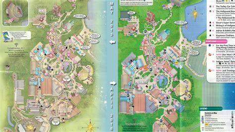 disneys hollywood studios map shows major
