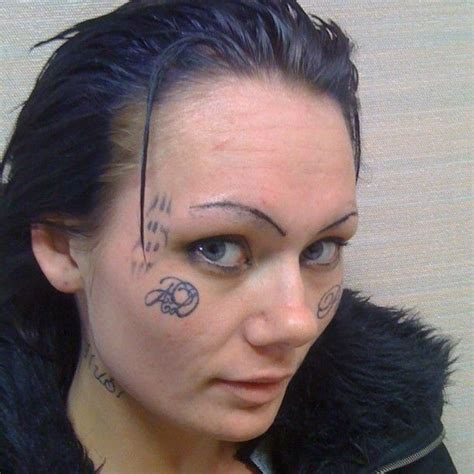 worst face tattoos 12 best worst tattoos images on bad