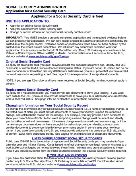 Nevada Collecting Social Security On Application Ss 5fs
