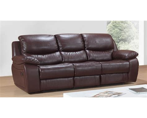 Leather Reclining Sofa Crescent Leather Reclining Sofa Brown Leather Recliner Sofas