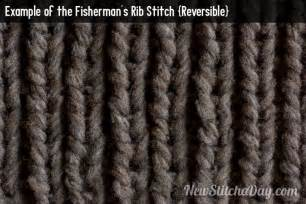 english rib pattern knitted fisherman rib stitch aka english rib a how to