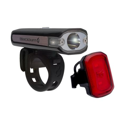 bike front and rear light set central 200 front click usb rear light set