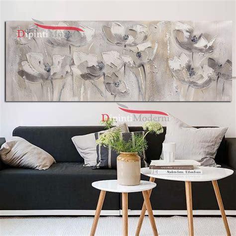 dipinti fiori moderni dipinti moderni bianchi con fiori arredamento soggiorno