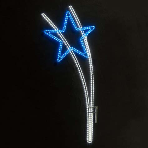 led shooting star lights shooting star silhouette with led light 1 7m