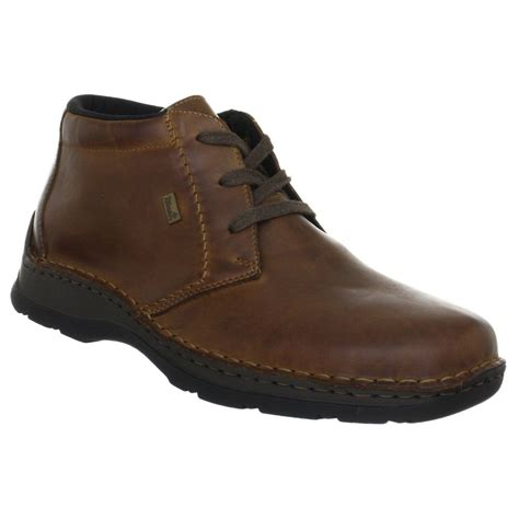 rieker mens boots rieker mens 05344 25 brown lace ankle boots marshall shoes