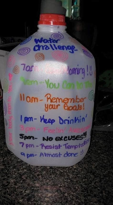 water weight loss challenge 17 best ideas about gallon water challenge on
