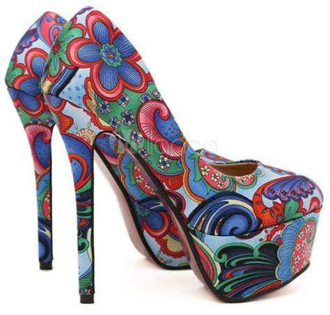 flower pattern heels embrace flower power with floral pattern high heel pumps