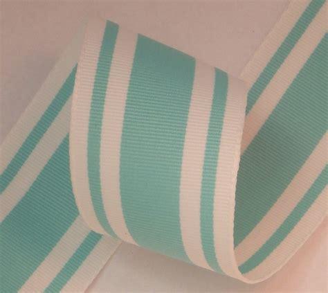 ribbon boutique 1 5 quot aqua white stripe grosgrain ribbon 5 yds the ribbon boutique