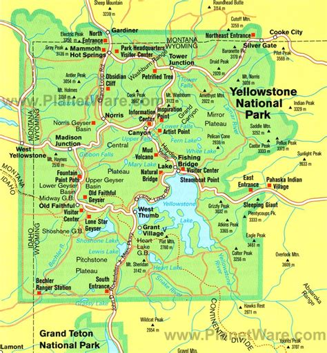 map of yellowstone national park yellowstone national park a travel guide to america s national parks