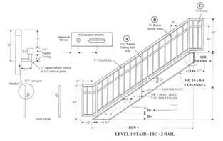 Stair Handrail Height Requirements by Ibc Prefab Steel Stairways