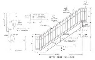 Stair Railing Detail by Ada Stair Handrail Requirements Quotes