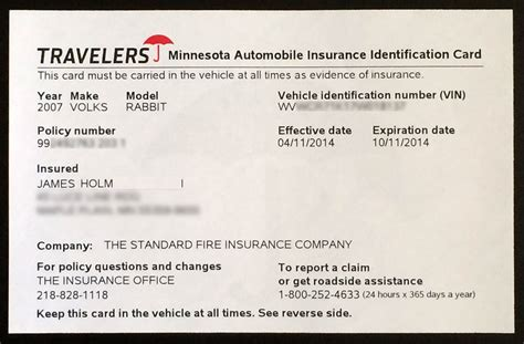 free auto insurance card template proof of auto insurance template free template business