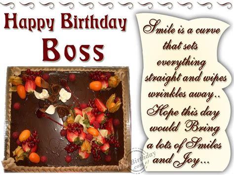 Birthday Wishes Boss