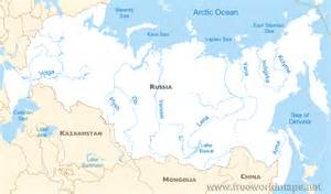 rivers map geography and climate water resources in russia