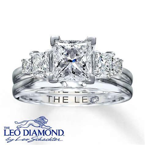 leo enhancer ring 1 2 carat tw 14k white gold