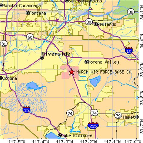 us bases california map march air base california ca population data
