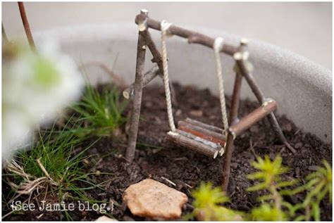 fairy garden swing try this make a fairy garden four generations one roof