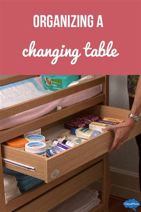 Organize Changing Table Organizing A Changing Table Cloudmom
