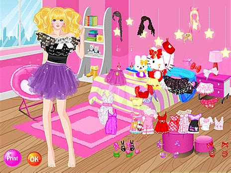 bedroom dress up games pinky room dressup game play online at y8 com