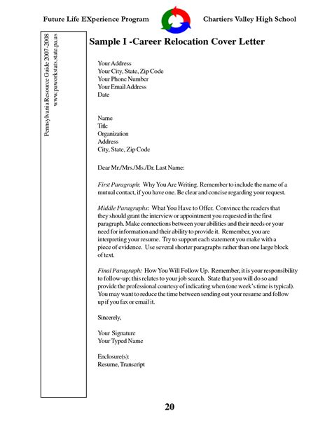 cover letter for moving to another state 10 relocation cover letter exles for resume writing