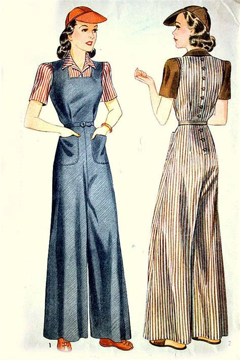 vintage overall pattern 53 best images about 1940s trousers slacks on pinterest