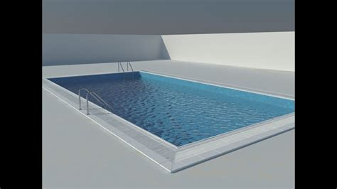 hindi how to make swimming pool material in 3ds max vray youtube