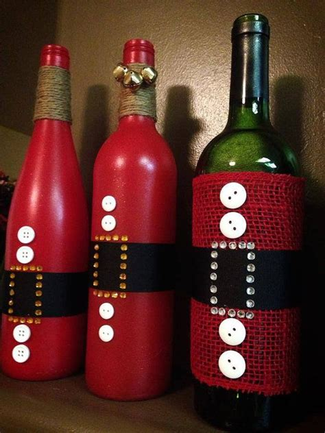 santa clause wine bottle for holiday decoration gift by
