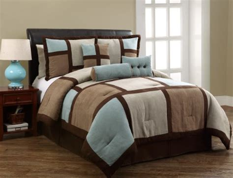 victoria classics palmer 7 piece microsuede king comforter