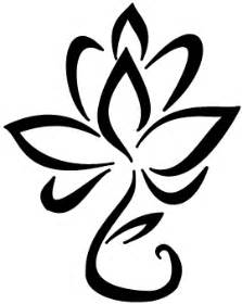Symbol Of Lotus Lotus Flower Line Drawing Clipart Best