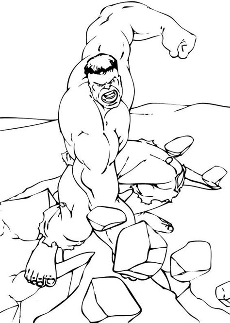 The Rock Coloring Pages Hulk Breaking The Rock Coloring Pages Hellokids Com by The Rock Coloring Pages