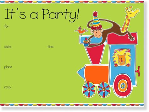 card birthday invitations for kid templated birthday invitations birthday invite template