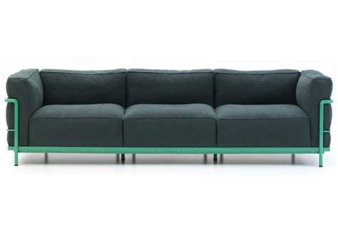 seat sofa lc2 three seater sofa cassina milia shop