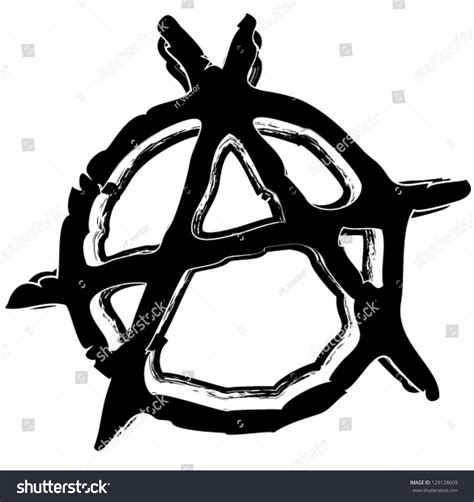grungy anarchy symbol stock vector 129128609 shutterstock