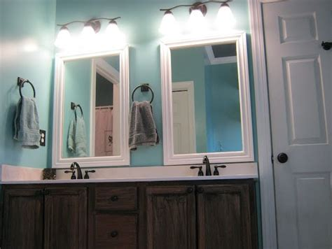 diy framed bathroom mirror framed bathroom mirrors diy