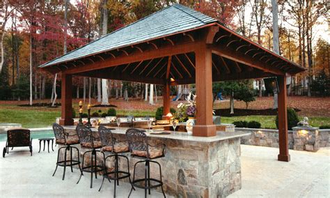 Backyard Pub And Grill Outdoor Kitchen With Bar Design Tool Pool Pergola Plans