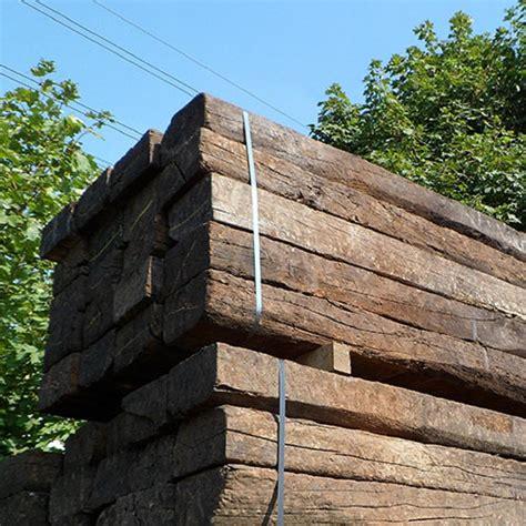 Green Oak Sleepers by Reclaimed Grade A Railway Sleeper Essex Harlow Fencing