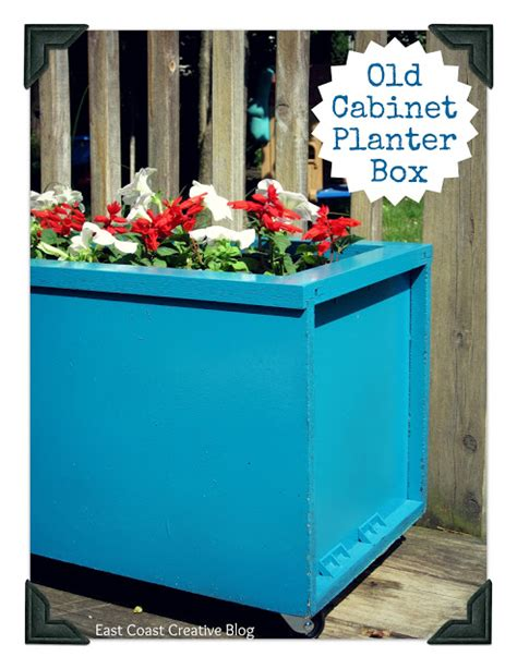 how to make a kitchen planter box for herbs diy cabinet turned planter via east coast creative home
