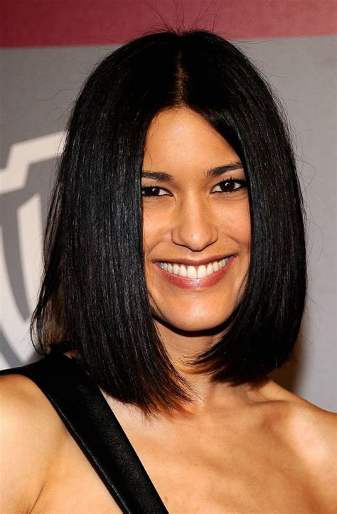 pics of a one lenght bob with longer front pieces medium length bob hairstyle pictures prom hairstyles