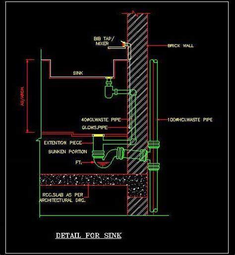 Floor Sink Detail by Sink Fixing Plumbing Details Plan N Design