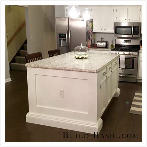 how to build an kitchen island white diy kitchen island diy projects pertaining to