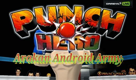 mod game punch hero arakan android army punch hero v1 3 0 mod unlimited money