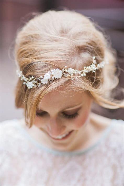 Wedding Hair With Flower Garland by Quirk Alert Beautiful Bridal Floral Hair Garlands