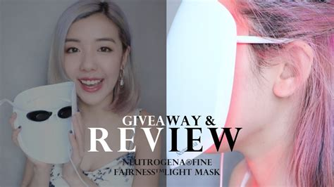 neutrogena fairness light mask review 新產品好物推介 會發光的面膜 neutrogena 174 fairness