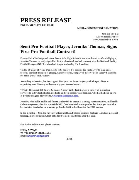 football contract template semi pro football player signs pro football contract