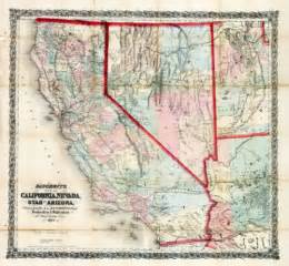 map of california nevada and arizona unlv libraries digital collections bancroft s map of